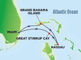 Круиз на Багамы. Карта